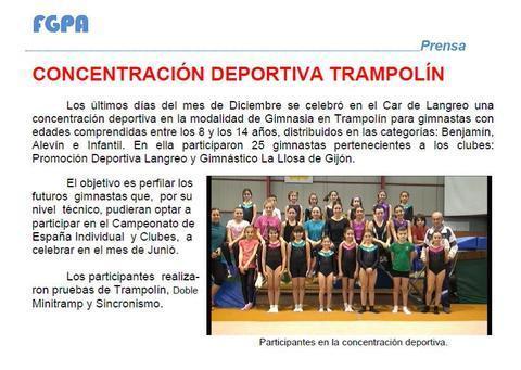 Gimnastur - CONCENTRACION DEPORTIVA TRAMPOLIN - Federación de Gimnasia del Principado de Asturias