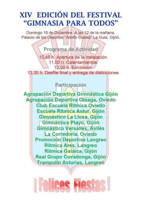 Gimnastur - XIV FESTIVAL DE GIMNASIA PARA TODOS - Federación de Gimnasia del Principado de Asturias